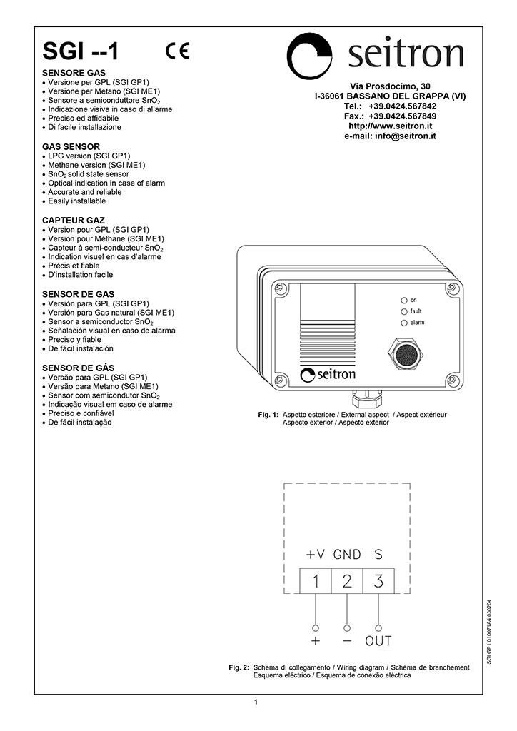 Блок сигнализации RGI ОО1 MSX2
