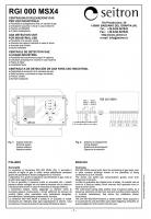 Блок питания и сигнализации RGI 000 MSX4 (проспект на английском)