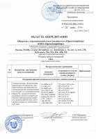 Область аккредитации ООО «Промэкоприбор»
