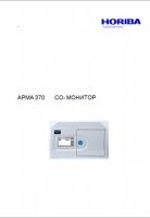 Газоанализатор HORIBA APMA-370 Руковоство по эксплуатации