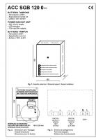 Аккумуляторная батарея ACCSGB12 (каталог на английском)