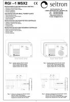 Блок питания и сигнализации RGI 001 MSX2 (проспект на английском)