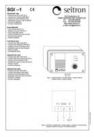 Внешний сенсор SGI ME1 (проспект на английском)